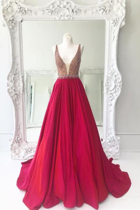 Sparkly Sequins Red Long Prom Dress Evening Dress P1270