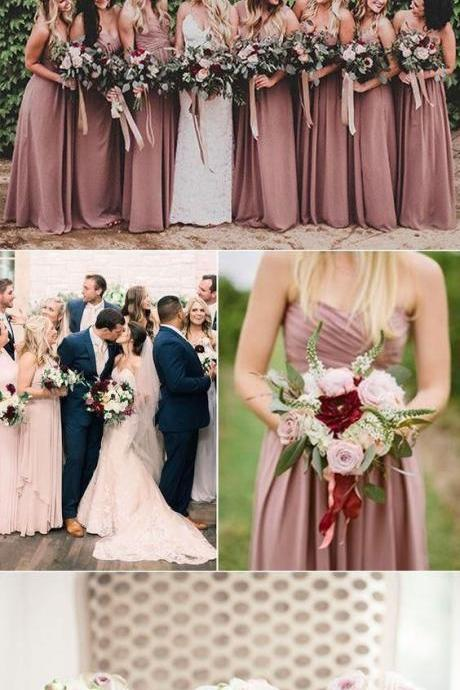 Custom Made Halter Neck Long Bridesmaid Dress