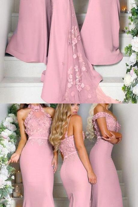 Pink Bridesmaid Dresses,Bridesmaid Dresses,Long Bridesmaid Dresses,Mermaid Bridesmaid Gowns