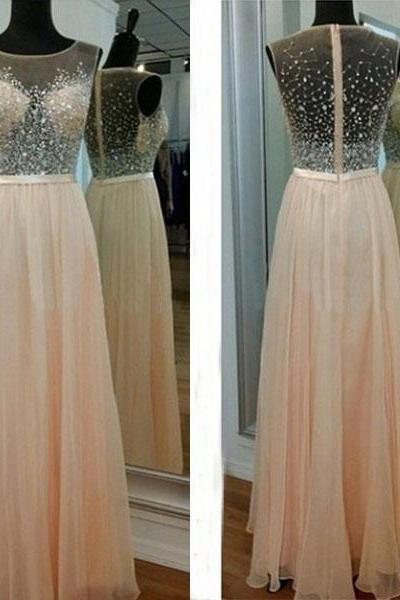 2016 Prom Dresses,Backless Evening Gowns,Light Blush Pink Formal Dresses,Beaded Prom Dresses,2016 Fashion Evening Gown,Simple Evening Dress,Beaded Party Dress,Pink Prom Gowns