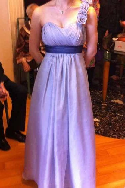 One Shoulder Bridesmaid Gown,Pretty Prom Dresses,Chiffon Prom Gown,Simple Prom Dress,Cheap Evening Dresses,Fall Wedding Gowns,Lilac Bridesmaid Dresses