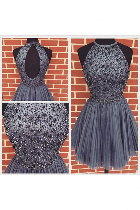 Gray Homecoming Dress,Princess Homecoming Dresses,Tulle Homecoming Dress,Princesses Party Dress,Sparkly Prom Gown,Cute Sweet 16 Dress,Grey Cocktail Gowns,Short Evening Gowns