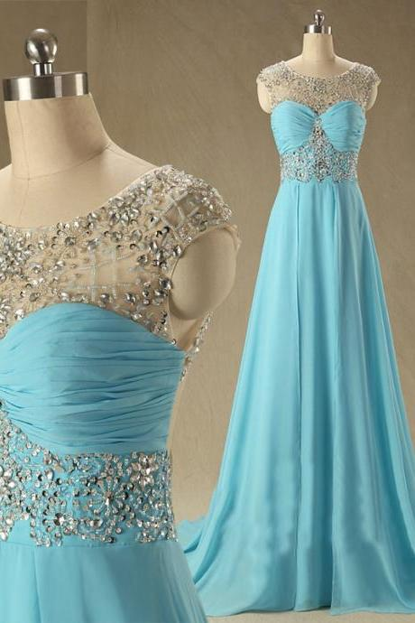 Blue Prom Dresses,A-Line Prom Dress,Beading Prom Dress,Backless Prom Dress,Chiffon Prom Dress,Simple Evening Gowns,Open Backs Party Dress,Open Back Prom Dresses,Sexy Formal Gowns For Teens