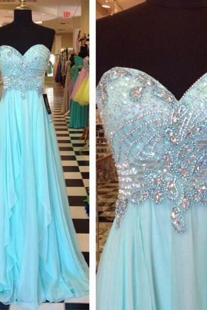 Light Blue Prom Dresses,Sweetheart Prom Gowns,Sparkle Prom Dresses,2016 Party Dresses,Long Prom Gown,Ruffled Prom Dress,Sparkly Evening Gowns,Glitter Prom Gowns