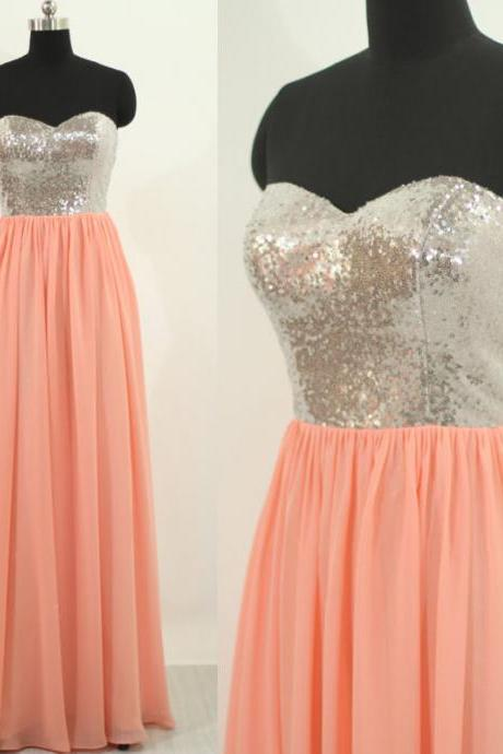 Chiffon Prom Dresses,Sequined Bodice Prom Dress,Modest Prom Gown,Sequins Prom Gowns,Sequined Evening Dress,Simple Evening Gowns,Sparkly Party Gowns,Long Prom Gowns,Cheap Evening Dress