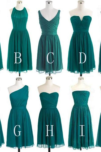 Custom Made Evening Dress in Green, Prom Dress, Formal Cocktail Dress, Bridesmaid Dresses , Weddings