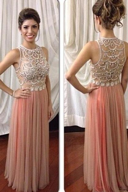 Blush Pink Prom Dresses,Sparkle Prom Gowns,Pink Prom Dresses,2016 Party Dresses 2016,Long Prom Gown,Open Backs Prom Dress,Sparkle Evening Gowns