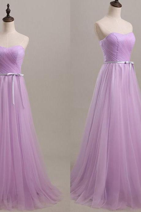 Lilac Prom Dresses,Tulle Prom Dress,Simple Prom Gown,Modest Prom Dresses,Sweetheart Evening Gowns,2016 Evening Gown,Cheap Formal Dress For Teen