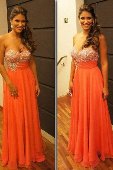 A Line Prom Dresses,Coral Prom Dress,Beading Prom Gown,Sweetheart Prom Gowns,Elegant Evening Dress,Beaded Evening Gowns,Sexy Party Gowns,Coral Prom Dress,Evening Gowns