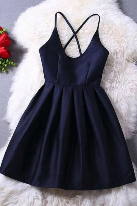 Homecoming Dress,Cute Homecoming Dress,Short Prom Dress,Navy Blue Homecoming Gowns,Beaded Sweet 16 Dress