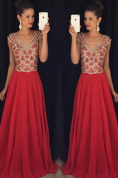 Red Backless Prom Dresses,Red Prom Gowns,Prom Dresses 2016, Party Dresses 2016,Long Prom Gown,Sexy Prom Dress,Sparkle Evening Gown,Sparkly Party Gowbs