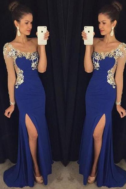 Prom Dresses,Evening Dress,Sexy Prom Dress,Prom Dresses With Long Sleeves,Charming Prom Gown,Open Back Prom Dress,Mermaid Fashion Evening Gowns for Teens