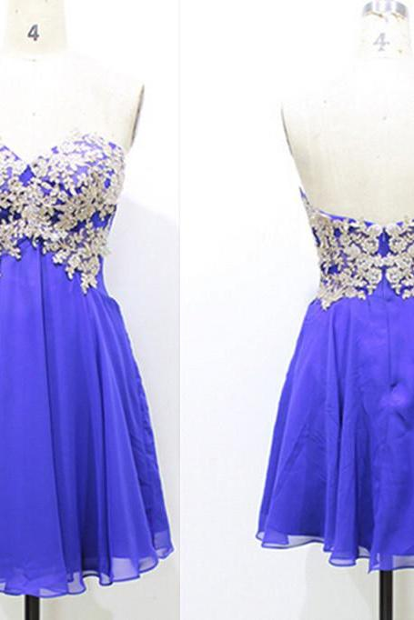 Homecoming Dress,Lace Homecoming Dress,Royal Blue Homecoming Dress,Fitted Homecoming Dress,Short Prom Dress,Homecoming Gowns,Cute Sweet 16 Dress For Teens