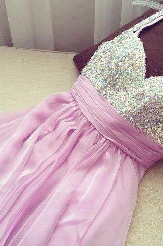 Homecoming Dress,Chiffon Homecoming Dresses,Short Prom Gown,Pink Homecoming Gowns,2016 Homecoming Dress,Homecoming Dresses,2016 Sweet 16 Dress For Teens