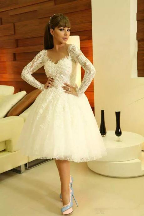 White Homecoming Dress,Short Prom Gown,Lace Homecoming Gowns,Ball Gown Party Dress,Short Prom Dresses,Formal Dress For Teens