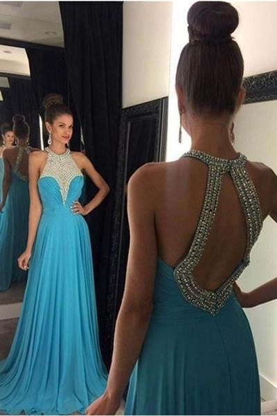 Backless Prom Dresses,Blue Prom Dress,Backless Prom Gown,Open Back Prom Dresses,Blue Evening Gowns,2016 Open Backs Teens Girl Dresses