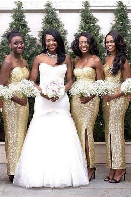 Sparkly Sequins Bridesmaid Dresses - Luulla