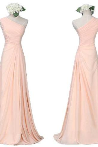 Blush Pink Bridesmaid Gown,Pretty Bridesmaid Dresses,Blush Pink Prom Gown,Simple Bridesmaid Dress,Cheap Wedding Dresses,Fall Wedding Gowns,Bridesmaid Dresses