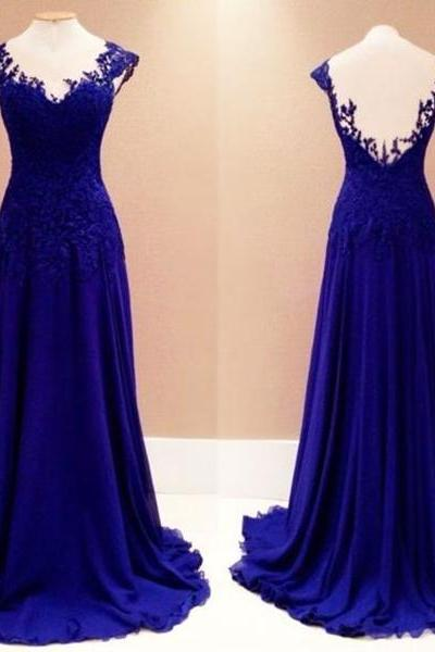 Lace Prom Gown,New Fashion Prom Dresses,Royal Blue Evening Gowns,Lace Party Dresses,Evening Gowns,Long Formal Dress For Teens