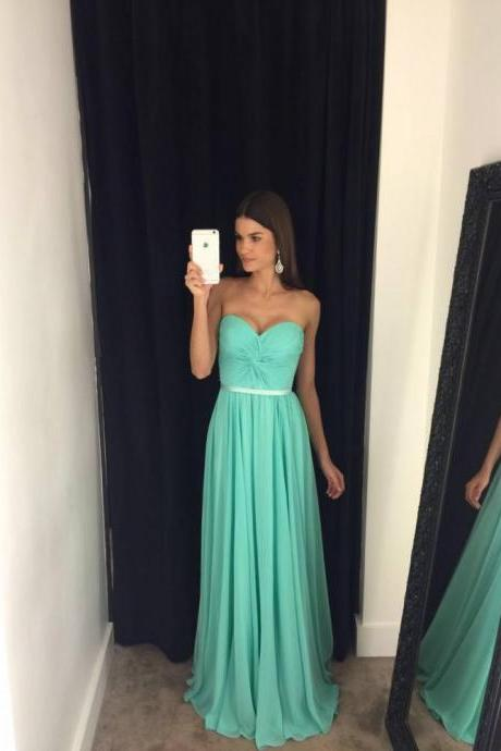 Mint Green Prom Dresses,A-Line Prom Dress,Prom Dress,Sweetheart Prom Dress,Chiffon Prom Dress,Evening Gowns,Fitted Party Formal Gowns For Teens