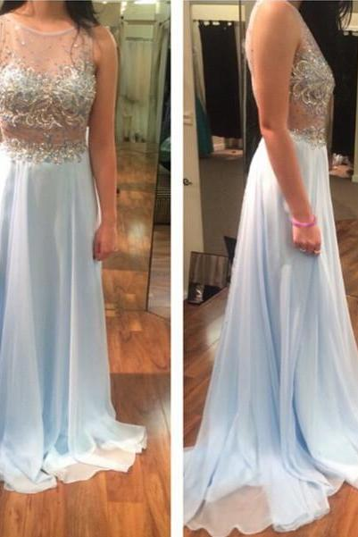 New Design Beading Custom Made A-Line Prom Dresses, Floor-Length Evening Dresses,Prom Dresses,