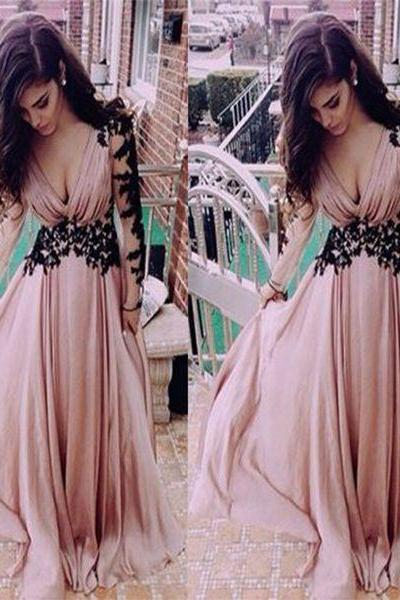 New Arrival Prom Dress,A-Line sweetheart lace long prom dress, long sleeve prom dress, evening dress,graduation dress