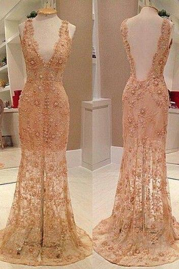 Champagne Prom Dresses,Charming Evening Dress,Champagne Prom Gowns,Champagne Prom Dress,New Prom Gowns,Champagne Evening Gown,Lace Party Dresses