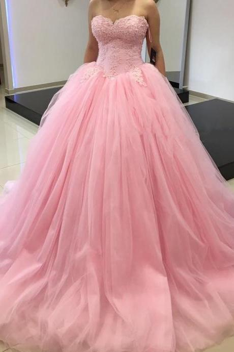 New Arrival Prom Dress,Modest Prom Dress,pink prom dresses,pink ball gowns,pink quinceanera dresses,ball gowns quinceanera dresses