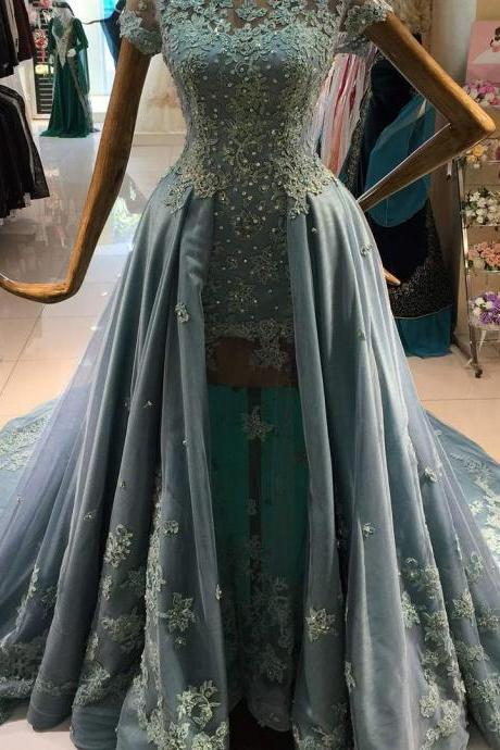 New Arrival Prom Dress,Modest Prom Dress,long sleeves prom dresses,black prom dress,black evening gowns,two piece prom dresses,prom gowns 2017