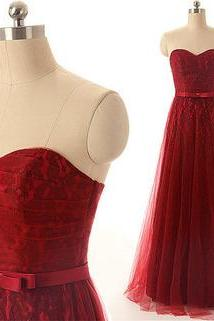 red prom dress, lace prom dress, long prom dress, cheap prom dress, party prom dress