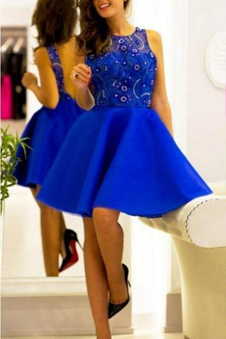 Royal Blue Homecoming Dress,Sleeveless Homecoming Dress,Popular Homecoming Dress, Junior Homecoming Dress,Graduation Dress , Homecoming Dress ,Prom Dress for Teens