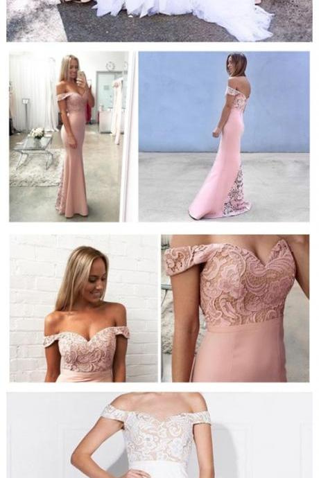 Mermaid Bridesmaid Dresses,Pink Bridesmaid Dress,Off shoulder bridesmaid dress,Popular bridesmaid dress, Wedding Party Dresses,Long Bridesmaid Dress,Bridesmaid Dresses,Bridal Gowns