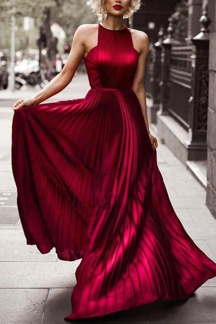 Burgundy Evening Dress, Woman Long Formal Dress, Sexy Party Dress,Simple Prom Dress,Cheap Prom Dress