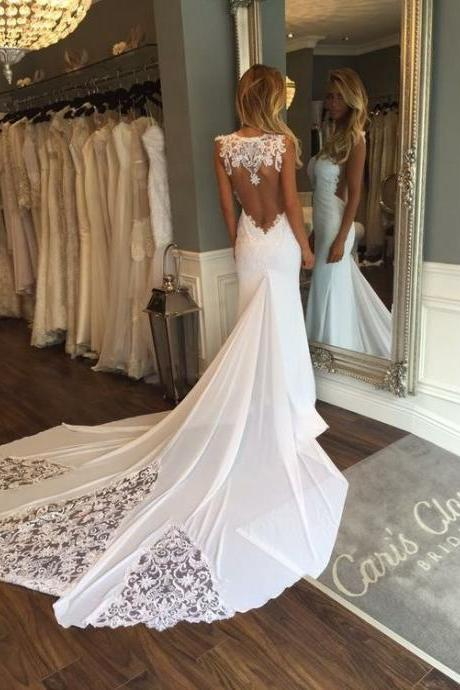 Wedding Dresses,Wedding Gown,Princess Wedding Dresses Mermaid Wedding Dress with Backless mermaid brides dress