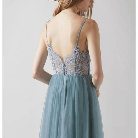 Sexy Evening Dress, A Line Prom Dress,lace Long Party Dress P0754