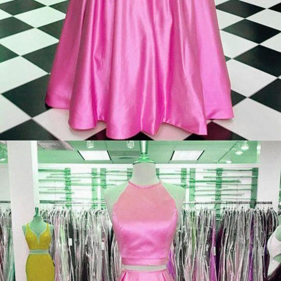 Pink Prom Dress,Blush Prom Dresses,Two Piece Prom Dresses,Prom Dresses