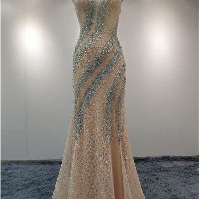 Mermaid Beaded Prom Dresses,Fancy Dresses,Prom Dress,Prom Dresses,Long Prom Dress