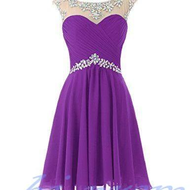 Grape Homecoming Dress,Pink Homecoming Dresses,Chiffon Homecoming Dress,Backless Party Dress,Open Back Short Prom Gown,Sweet 16 Dress,Mint Green Homecoming Gowns