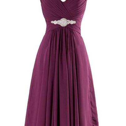 Purple Homecoming Dress,Straps Homecoming Dresses,Chiffon Homecoming Gowns,Yellow Party Dress,Knee Length Prom Gown,Orange Cocktails Dress,Bridesmaid Dresses