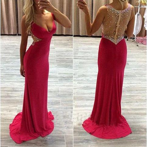 Red Prom Dresses,Open Back Prom Gowns,Backless Prom Dresses,Mermaid Party Dresses,Long Prom Gown,Open Backs Prom Dress,2016 Evening Gowns,Formal Gown