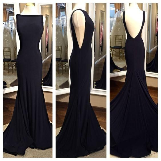 Black Prom Dresses,Backless Prom Dress,Chiffon Prom Dress,Long Prom Dresses,2016 Formal Gown,Evening Gowns For Teens