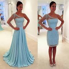 One Shoulder Prom Dresses,Beaded Evening Dress,Chiffon Prom Dress,Light Blue Prom Dresses,2016 Prom Gown,Elegant Prom Dress,Fashion Evening Gowns for Teens