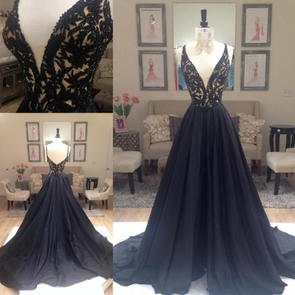 Black Prom Dresses,Sparkle Evening Dress,Beaded Prom Dresses,Black Prom Dresses,Glitter Prom Gown,Black Prom Dress,Formal Gowns for Teens