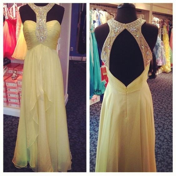 Charming Prom Dress,Charming Prom Dress,A-Line Prom Dress,Chiffon Prom Dress,Beading Evening Dress