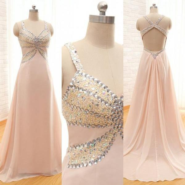 Beaded Evening Dress,Charming Prom Dress,Chiffon Prom Dress,A-Line Prom Dress,Beading Evening Dress